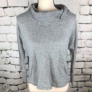 Banana Republic• Grey Cowl Neck Crop Sweater XS